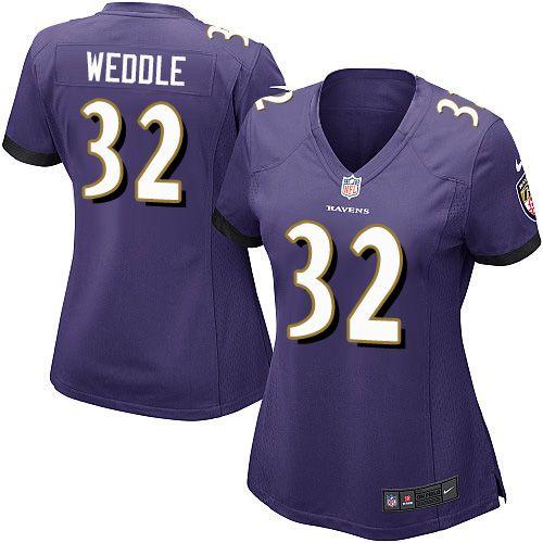 $24.99 Women's Nike Baltimore Ravens #32 Eric Weddle Game Purple ...