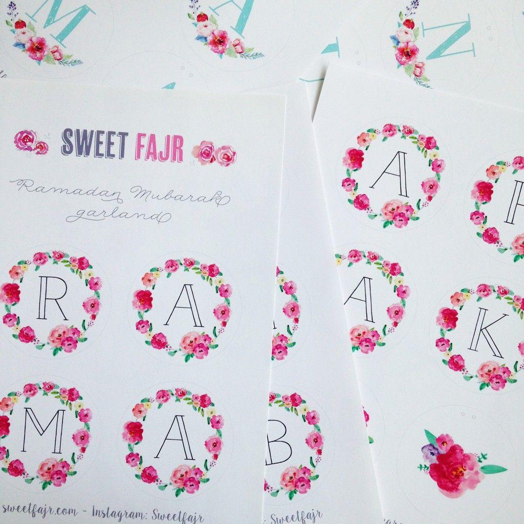 Ramadan Crafts Free Printable Ramadan Mubarak Garlands