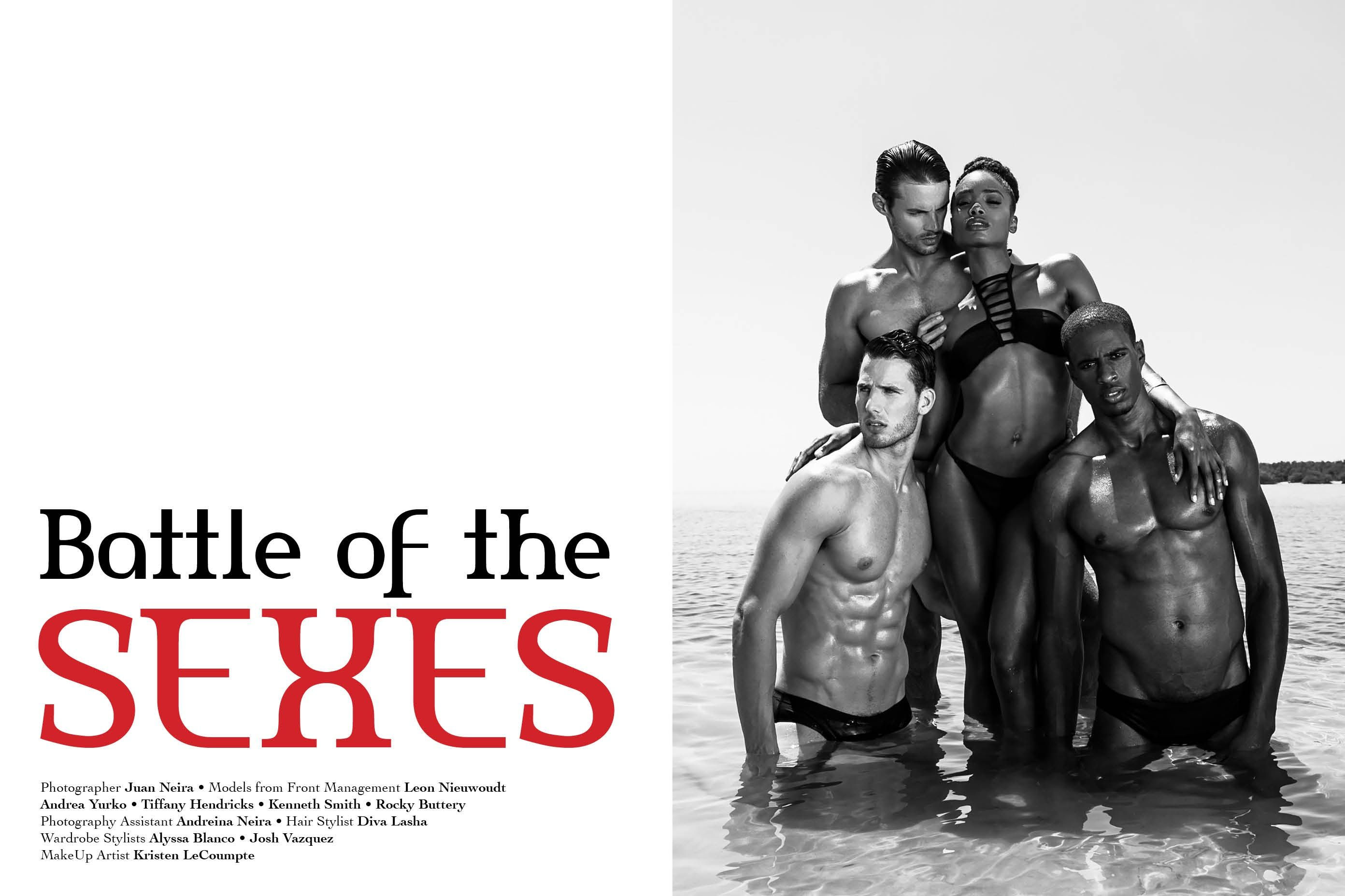 Battle of the Sexes Editorial for Ellements Magazine, Photographed by Juan Neira, models from Front Management