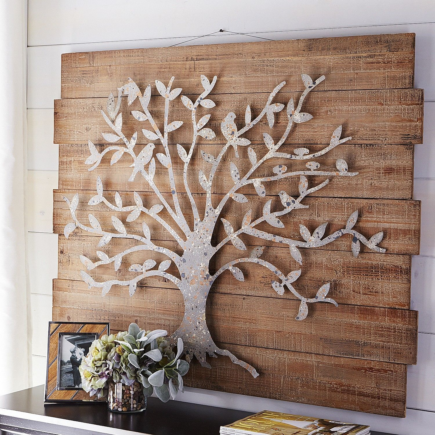 Wood Decorative Wall Art Timeless Tree Wall Decor Pier 1 Imports Metal Work