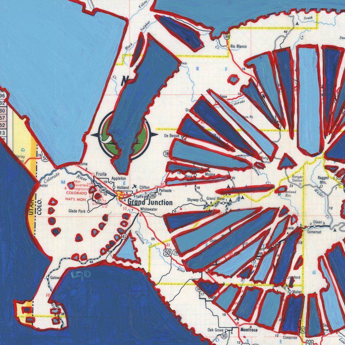 Bike Grand Junction Print Featuring Fruita Fruitvale Grand