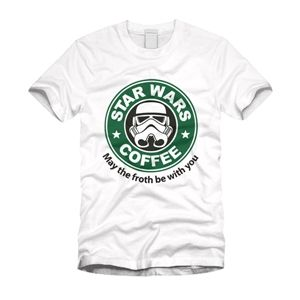 Star Wars Coffee Mens May The Froth Be With You T Shirt