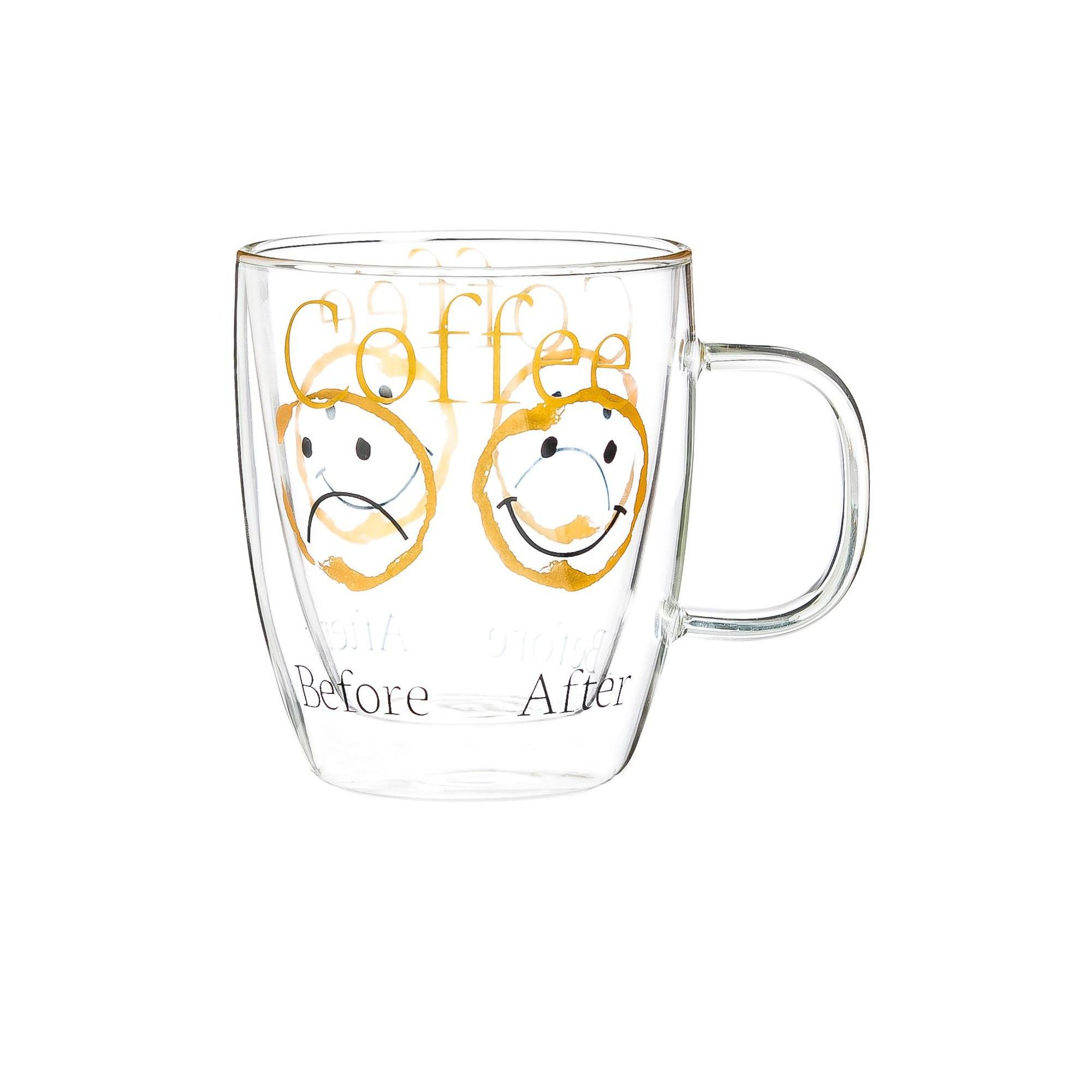 Cypress Home Before & After Coffee Glass Coffee Cup, 12