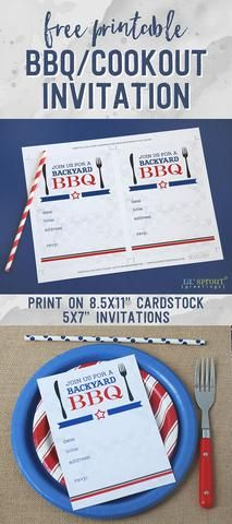 free printable bbq cookout invitation free printables