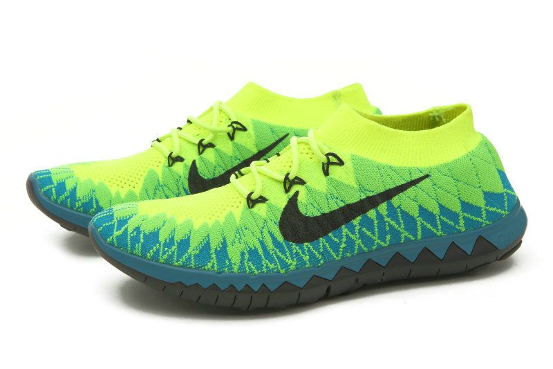 6a19d3eacd5c Mens Original Nike Free 3.0 Flyknit Teal Volt Neo Turquoise