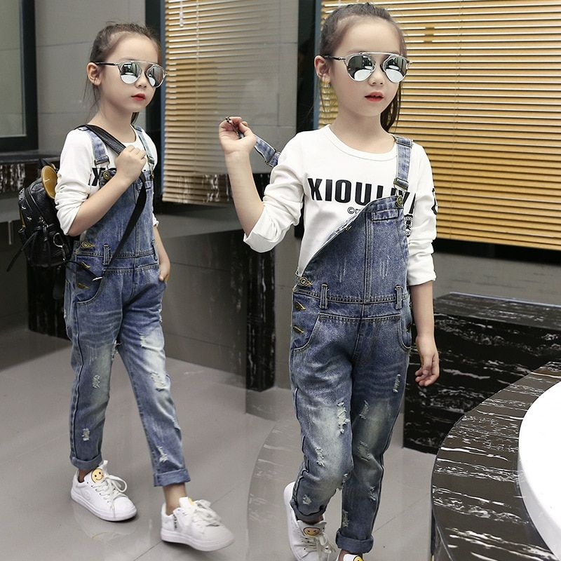 2018 Children s Clothing Ripped Jeans Baby Girl Leisure Denim Overalls  Price  29.70   FREE Shipping  hashtag1 19d8e36b611b