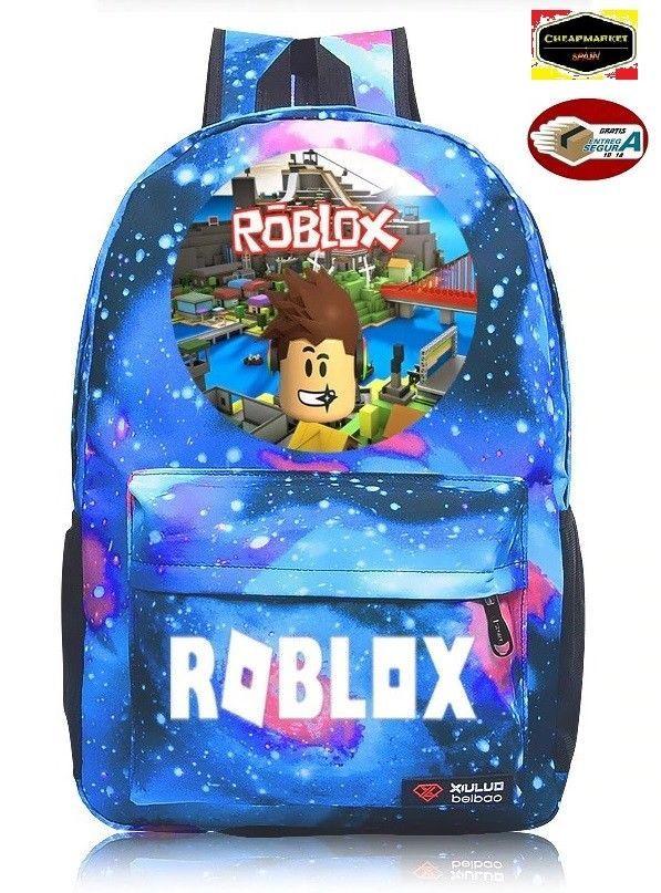 649f991df mochila escolar impresa ROBLOX alta calidad o mochila galaxi azul england  flag
