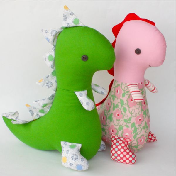 Tiny T-Rex pattern!! The first stuffed animal I ever received (just ...