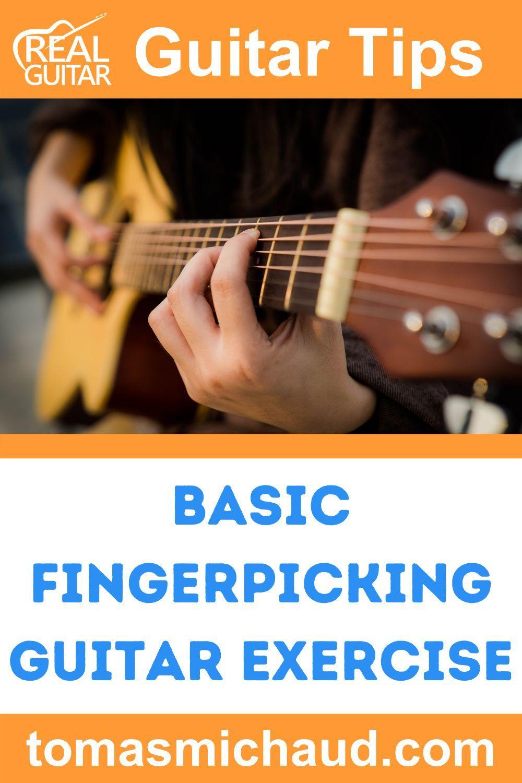 Basic Fingerpicking Guitar Exercise Fingerstyle Guitar Lessons Acoustic Guitar Lessons Guitar Exercises