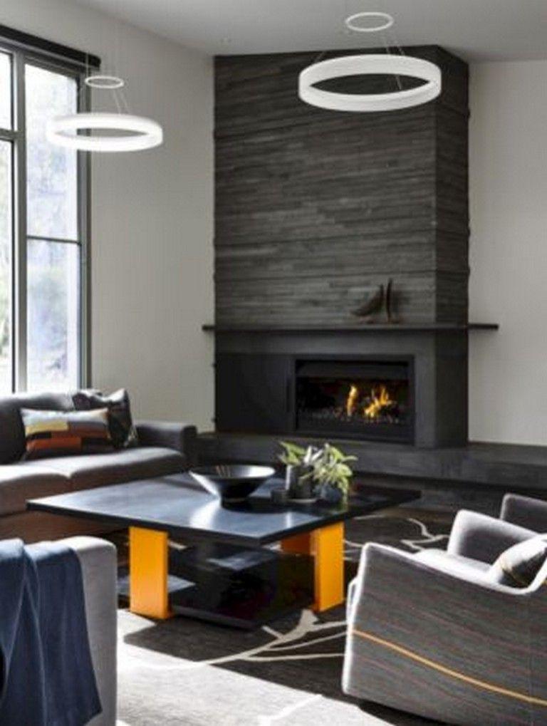35 Good Decorating Modern Fireplace Ideas Modern Stone Fireplace