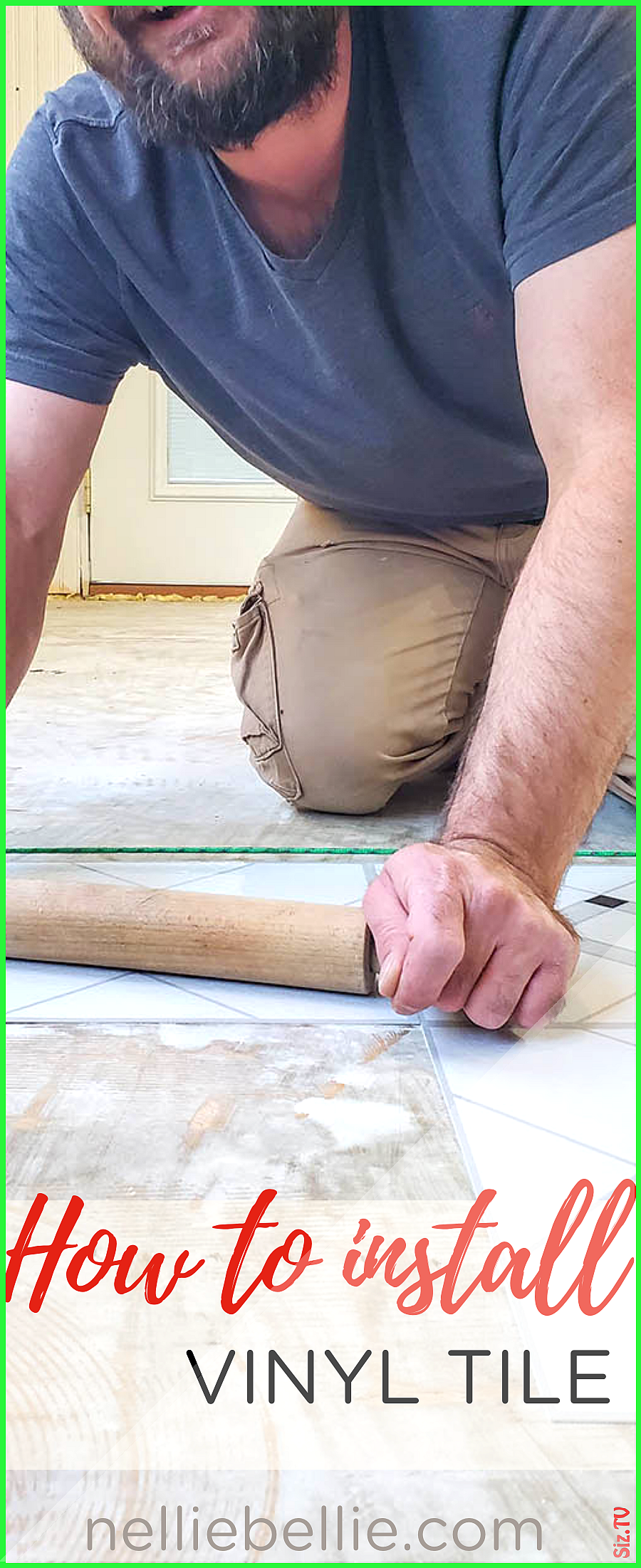 How to install peel and stick vinyl tile Such an inexpensive flooring option to DIY yourself follow this tutorial to get great results diyflooring How to install peel and...