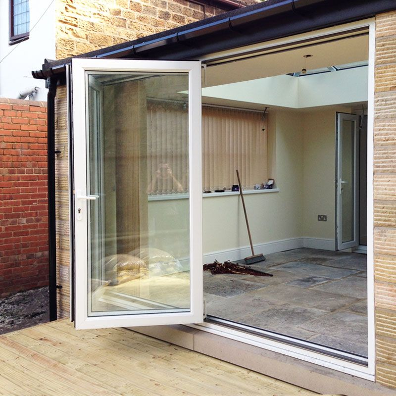 6ft White Upvc Bifold Folding Door Set Flying Doors No10 Decking