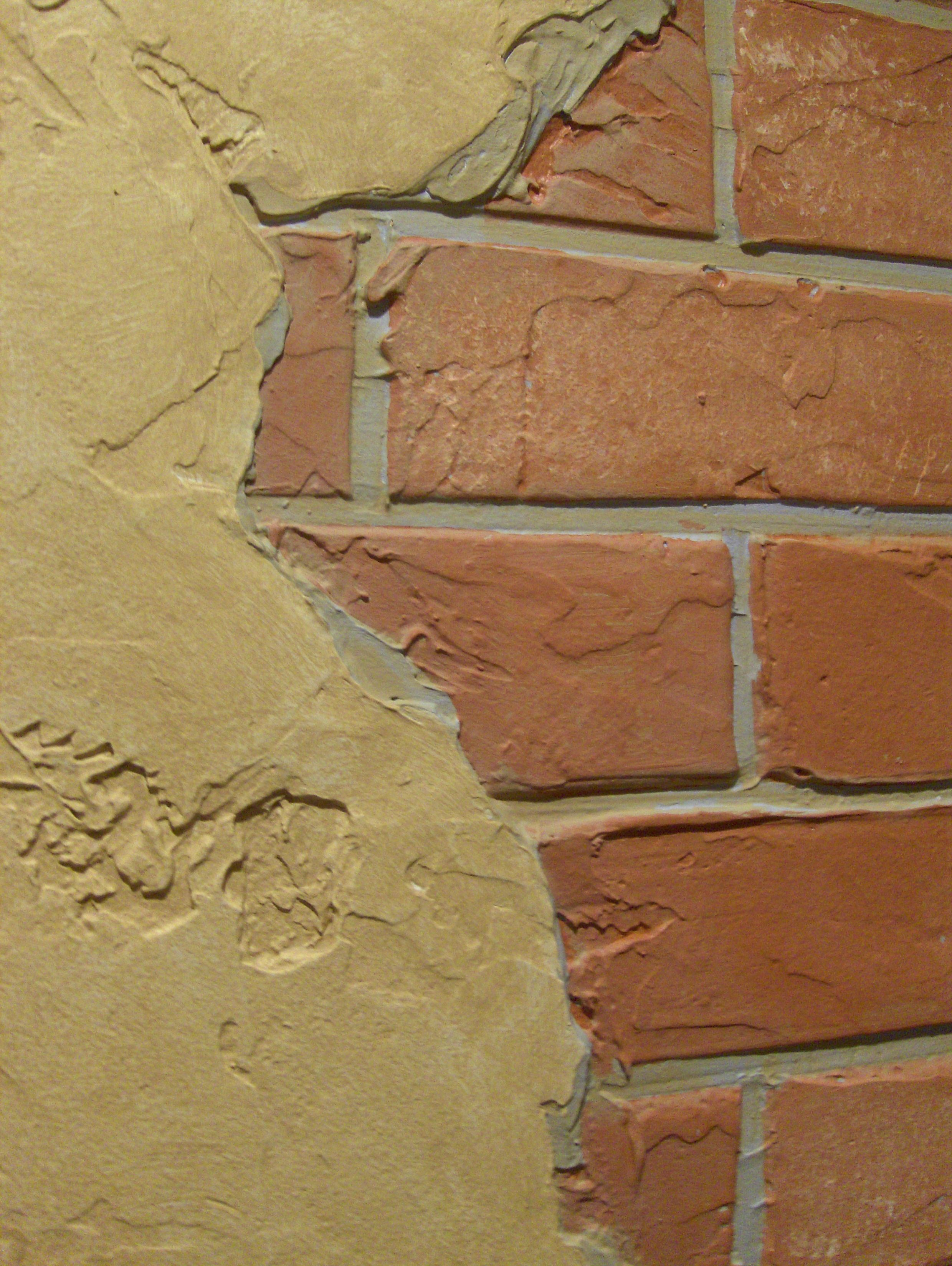Faux Plaster faux brick with faux plaster | brick and stone walls | pinterest