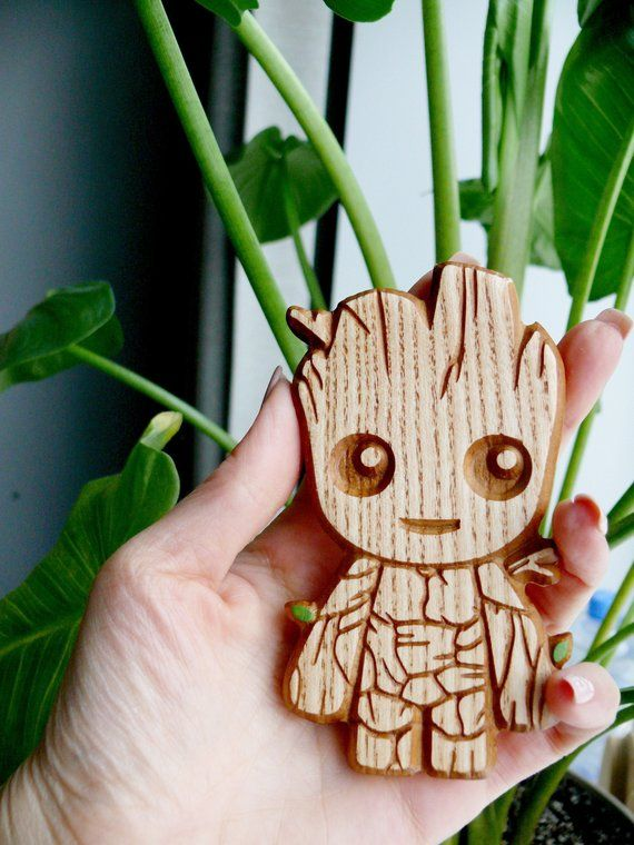 Wooden Baby Groot Magnet Carved Refrigerator Magnet Guardians Of The