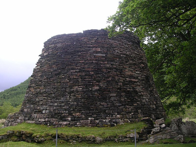 Dun Troddan Broch near Glenelg, Scotland I viewed this one, its rather quite large..