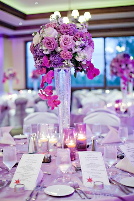 pink and purple wedding reception centerpieces bellatrix rh za pinterest com Dollar Tree Wedding Centerpieces Roses Black and Purple Wedding Centerpieces