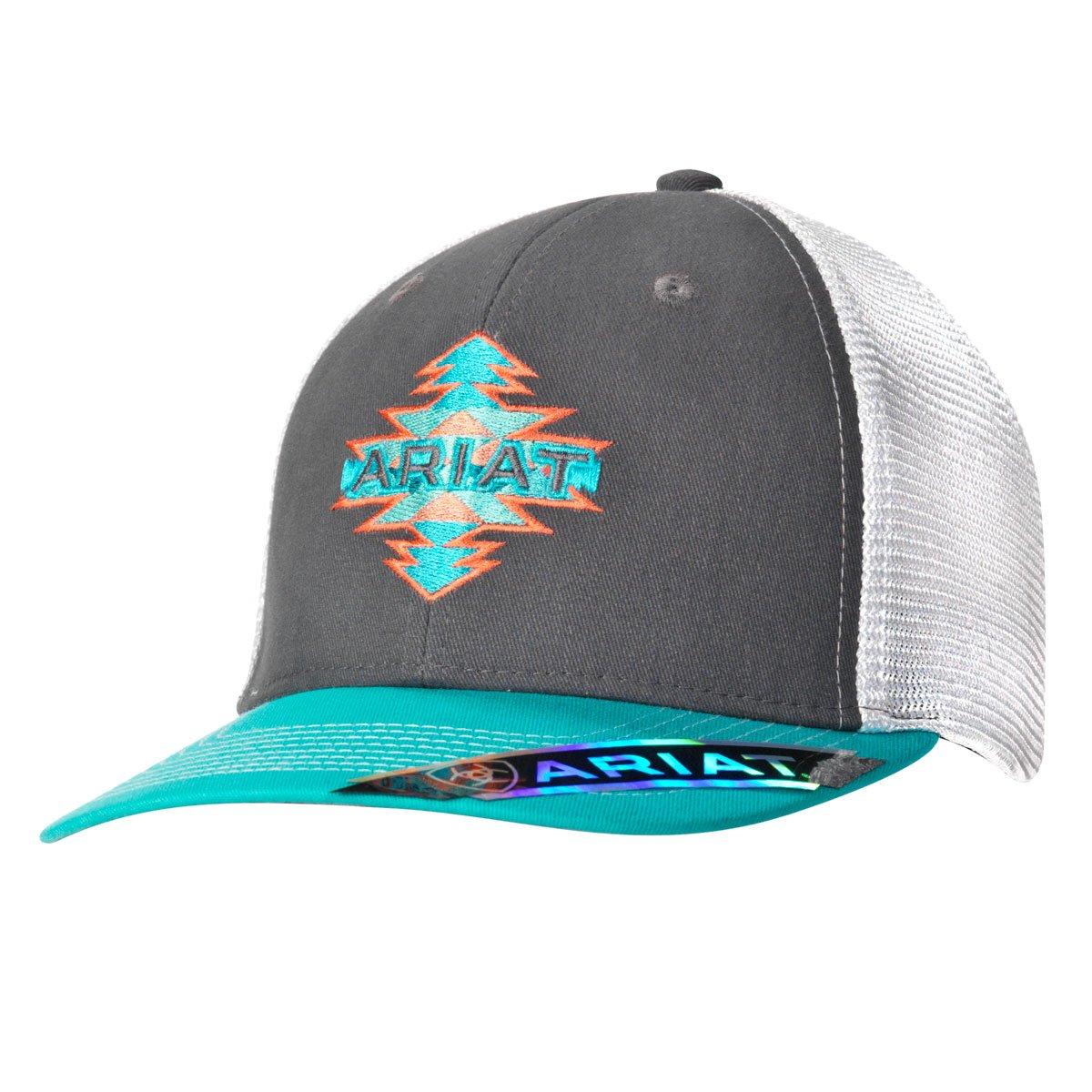 93408e3e7 Ariat Women's Gray Turquoise Snapback Baseball Cap | My style ...