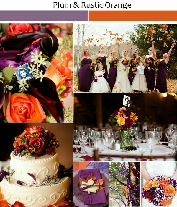 Pin by fawn moelter on ringsdressesweddings pinterest wedding plum and orange fall wedding colors junglespirit Image collections