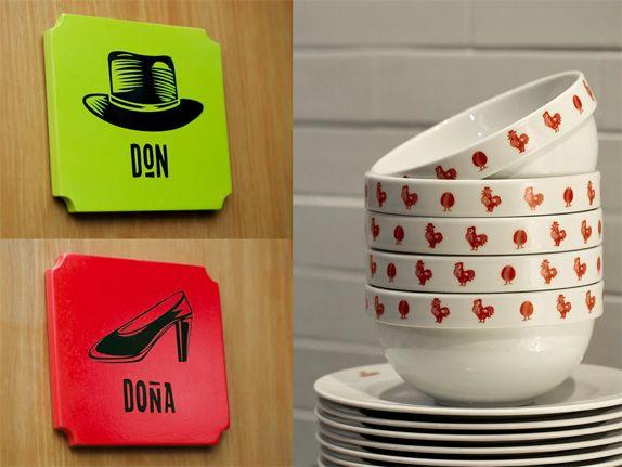 Don Belisario Restaurant Logo and Identity via Brand New