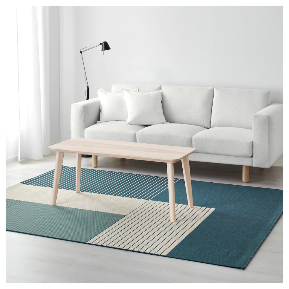 ROSKILDE Rug, flatwoven in/outdoor greenblue 200x250 cm