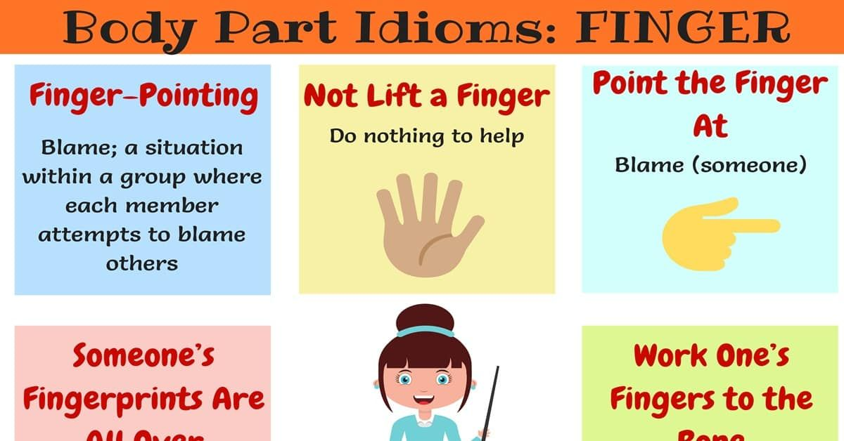 Finger Idioms Useful Expressions Idioms With Finger 4 Idioms English Writing Common Phrases