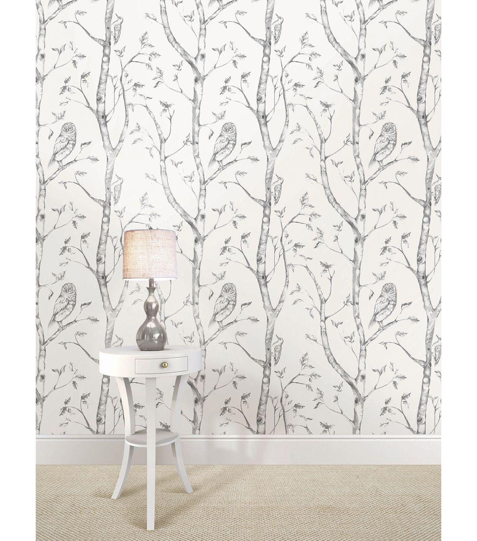 Wallpops Nuwallpaper Gray Woods Peel And Stick Wallpaper Birch