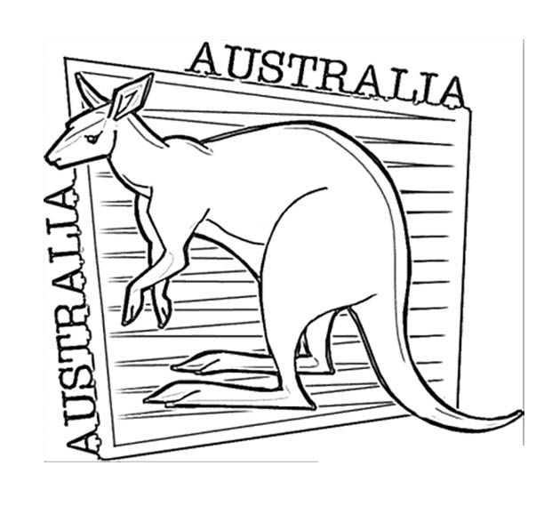 Kangaroo Happy Australia Day Coloring Page For Kids Kids Coloring