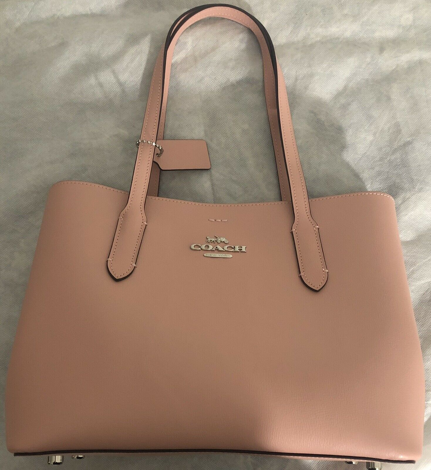 60b9d32698 New Women's Coach F48733 Leather Avenue CarryAll Satchel/Tote Hand ...