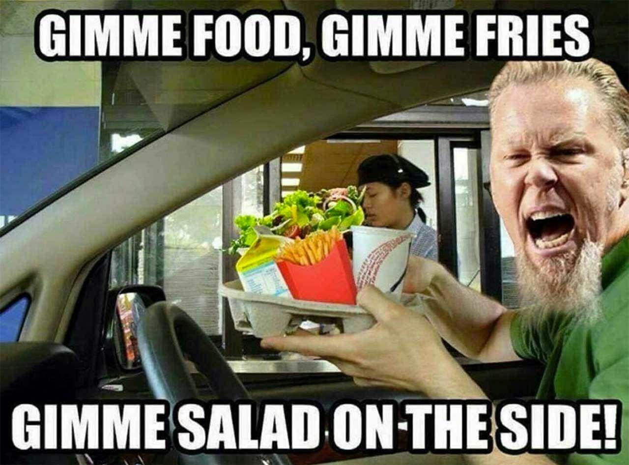 Funny Rock Music Meme : Lol when metallica orders lol musical funnies