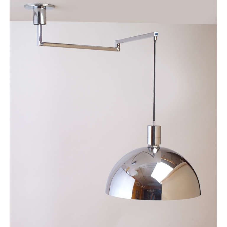 Modernist Swing Arm Ceiling Light By Franco Albini Fixtures Lights