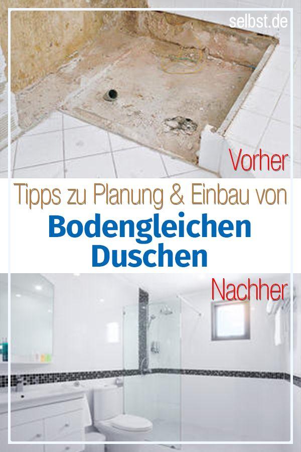 Dusche selber bauen | Dusche selber bauen, Bodengleiche ...