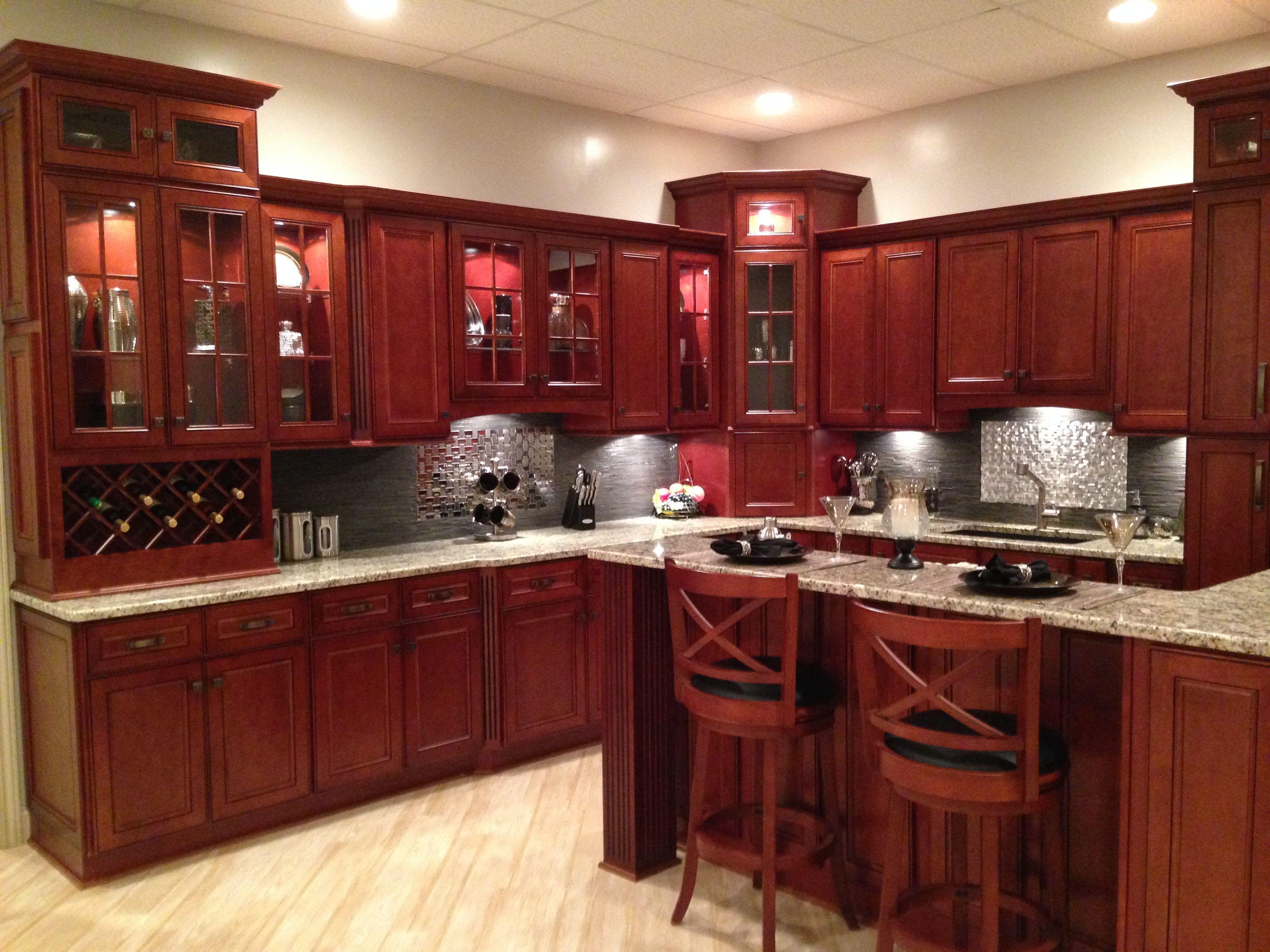 York Cherry York Cherry Kitchen Cabinets Kitchen Kitchen Colors