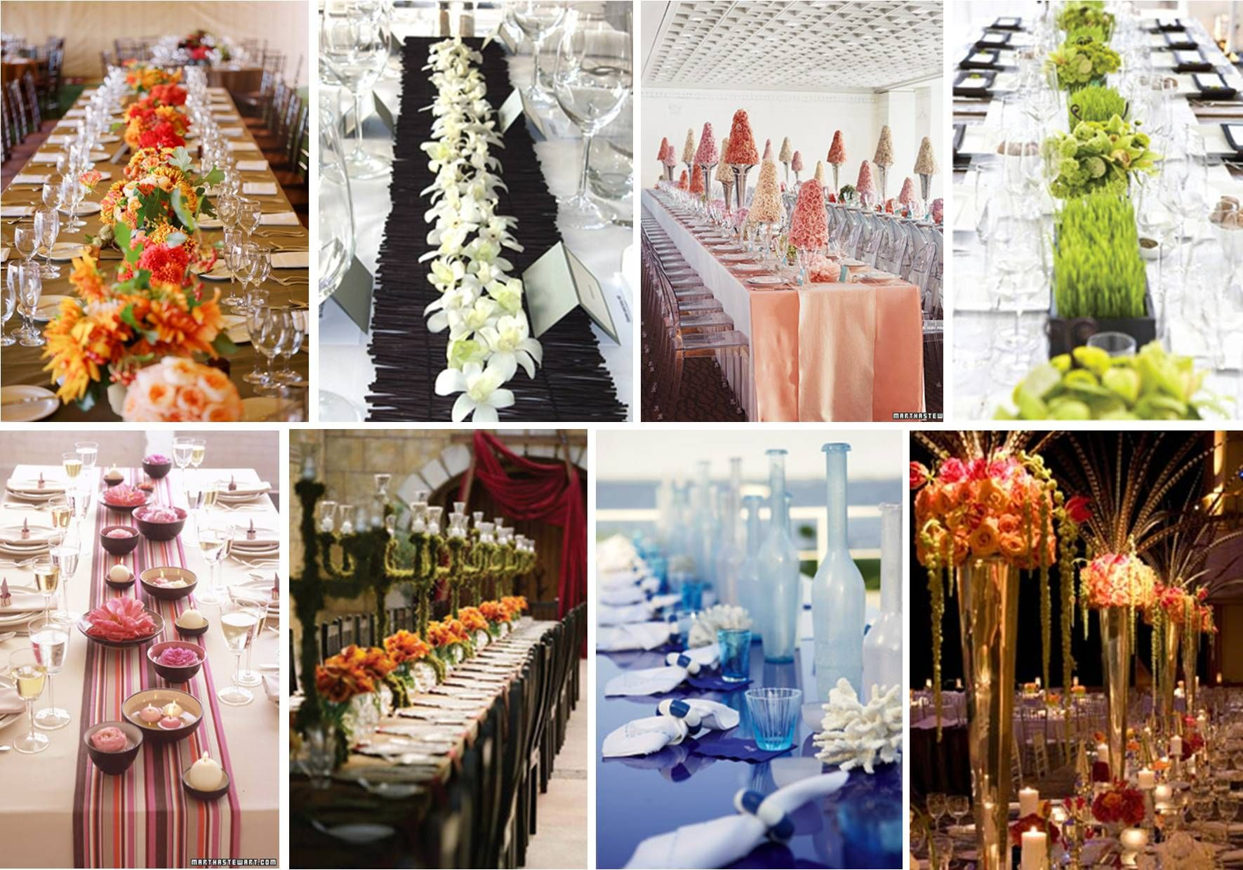 long table setup wedding reception%0A Examples of long table centerpiece decor misc event decor having a hard  time figuring out what