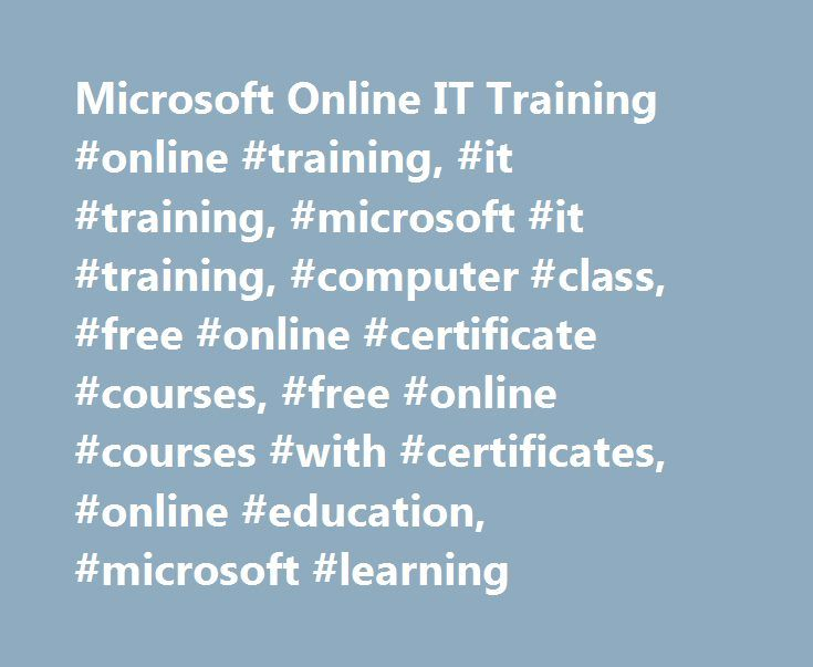 Microsoft Online It Training Online Training It Training