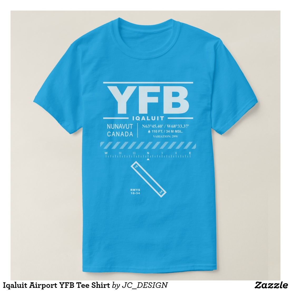 Iqaluit airport yfb tee shirt design features air navigation