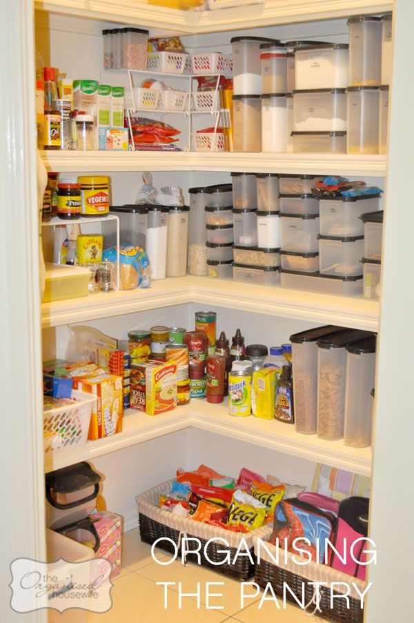 Organising the pantry, on The Organsied Housewife