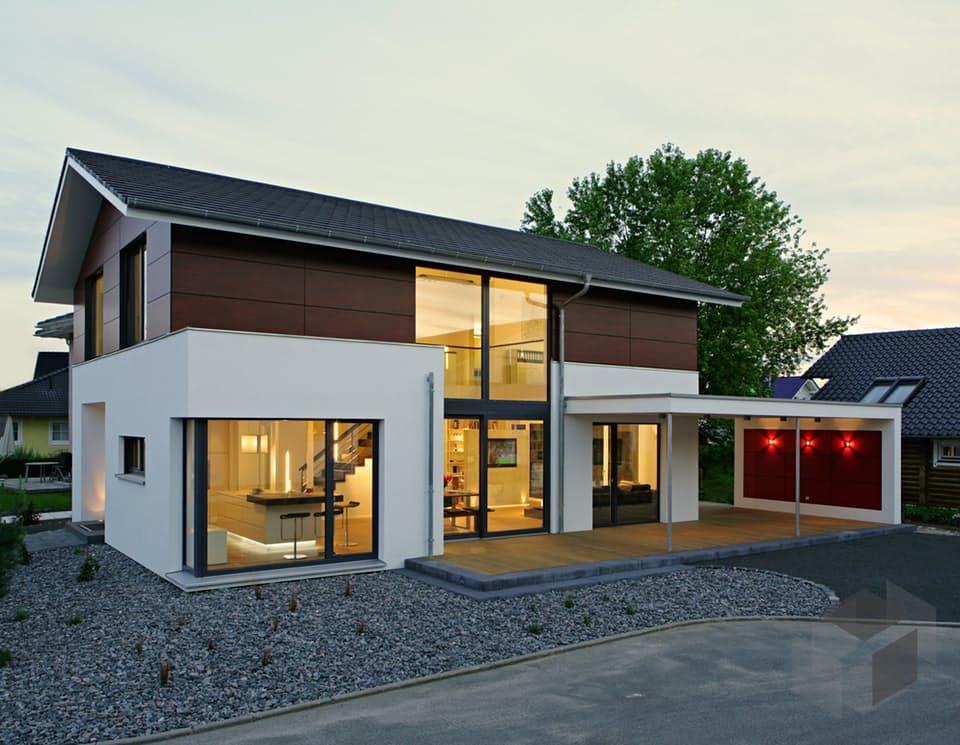 Aktionshaus vital182 von bittermann weiss holzhaus klick auf das bild um direkt zu unse - Holzhaus bauhausstil ...