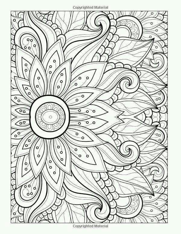 Flower Flower Coloring Pages Free Adult Coloring Pages