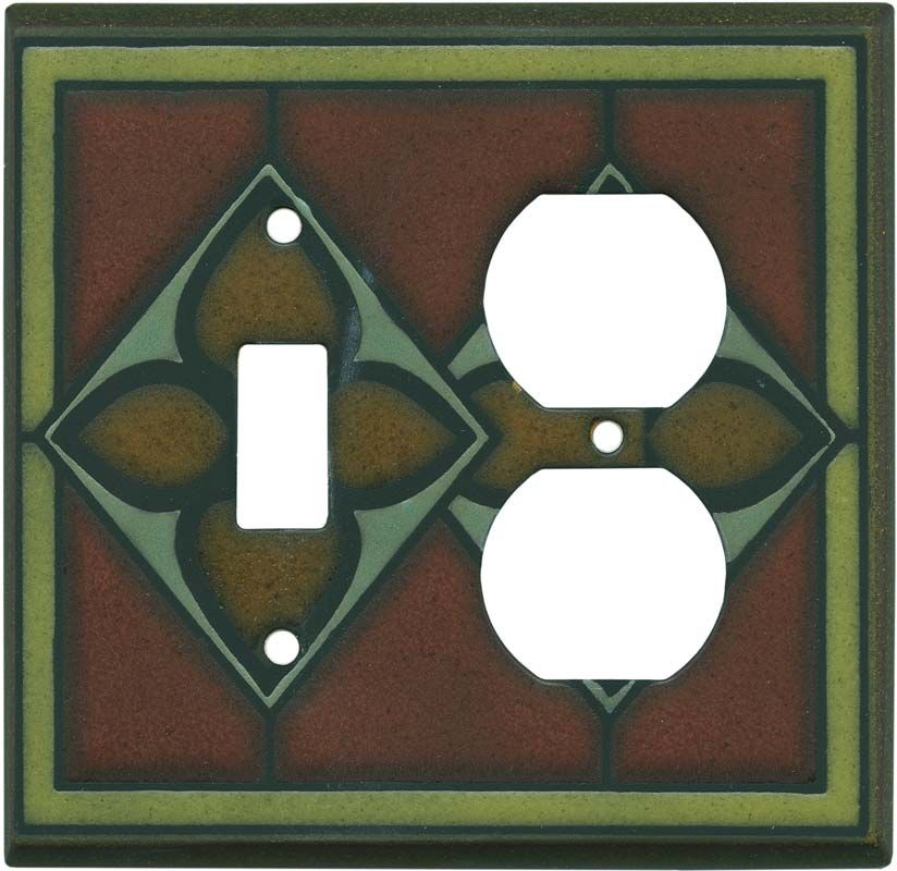 Rustic Tile Switch Plates Outlet Covers Rocker Switchplates