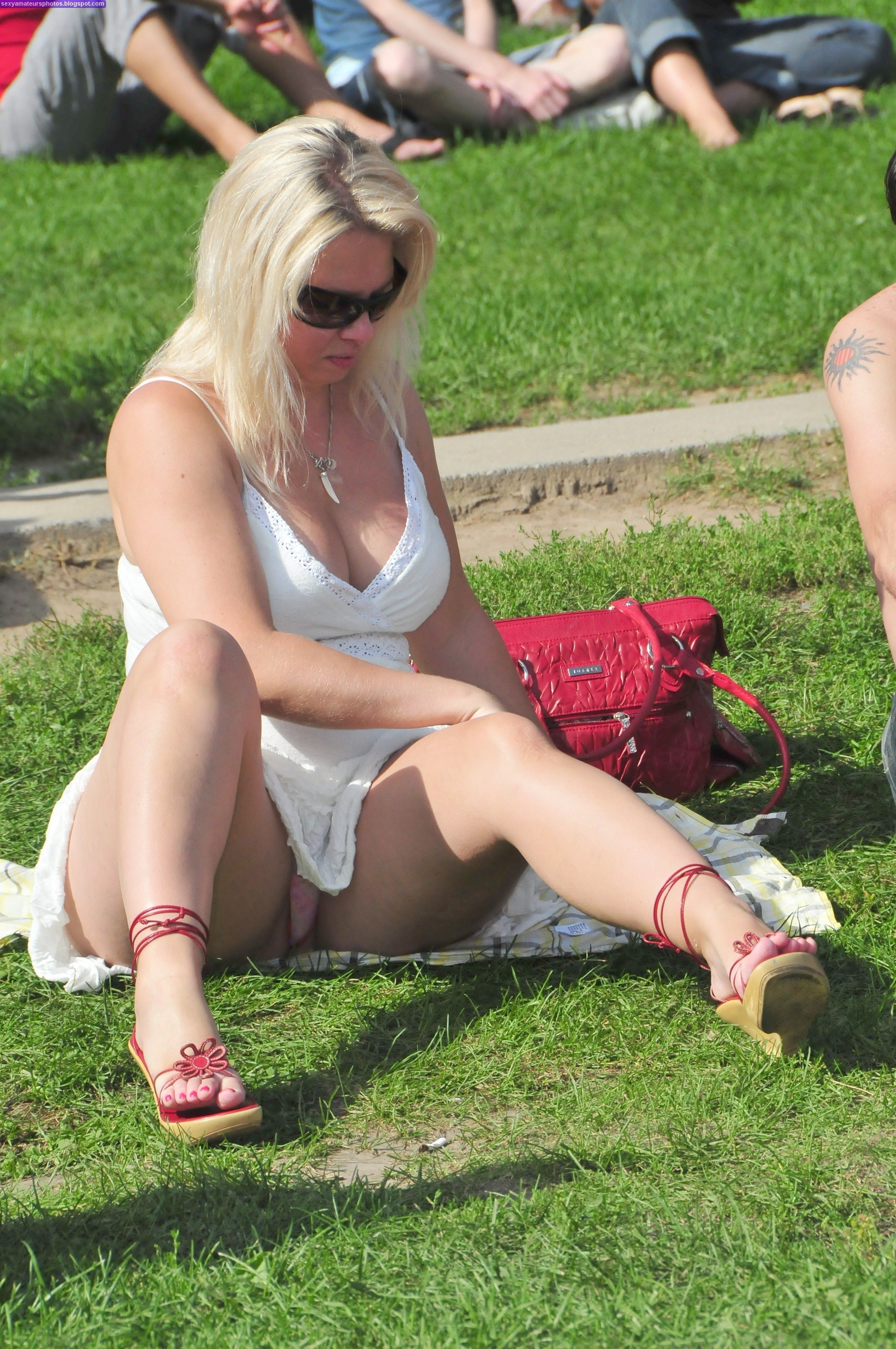 Plus size mature women upskirt think