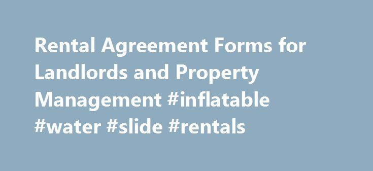 Rental Agreement Forms for Landlords and Property Management - rental agreement forms