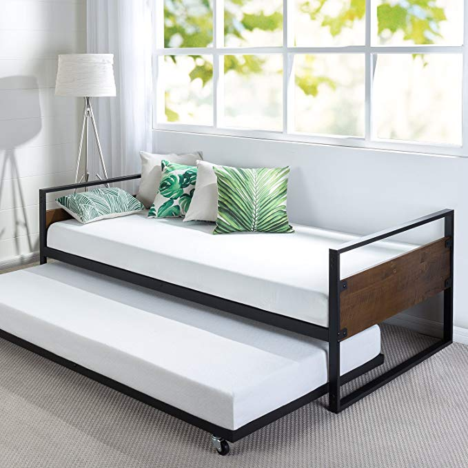 Amazon Com Zinus Suzanne Twin Daybed And Trundle Frame Set