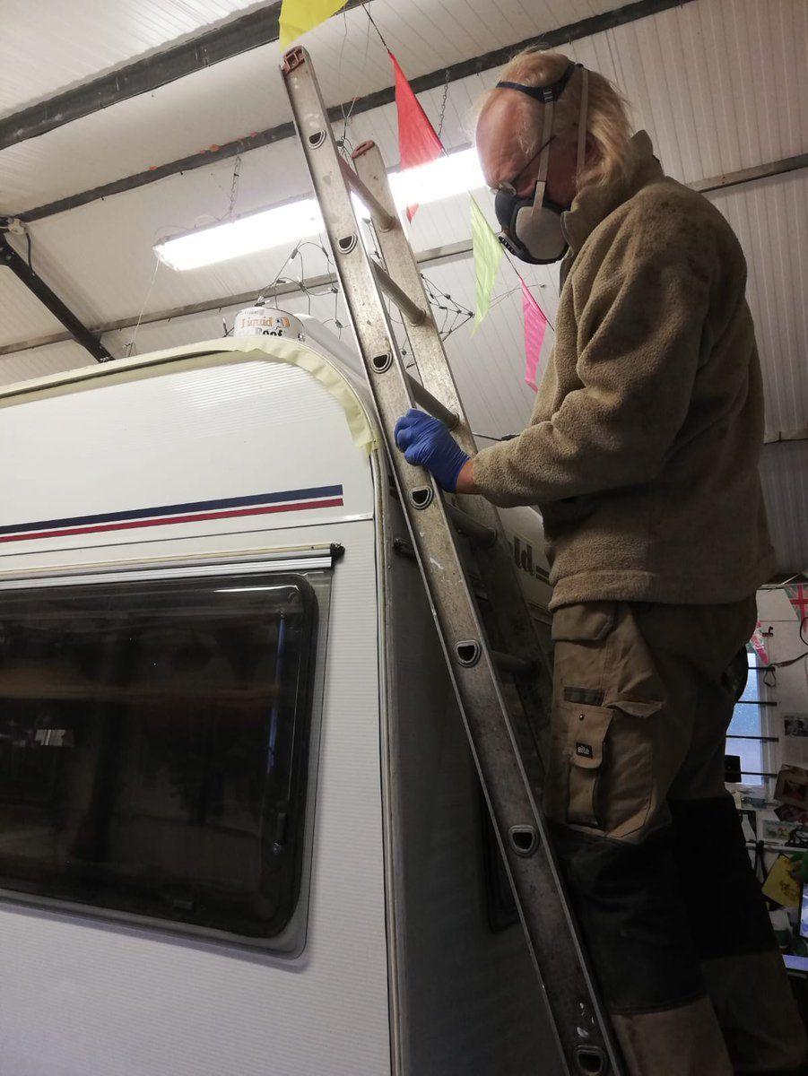 Good Afternoon All Proguardcoating We Just Had To Contact You To Say How Impressed We Are With Your Liquid Epdm Teardrop Caravan Vintage Caravans Camper Van