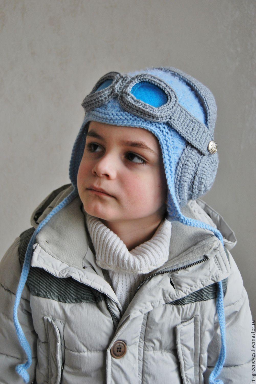Схема шапка-шлем для мальчика спицами схема