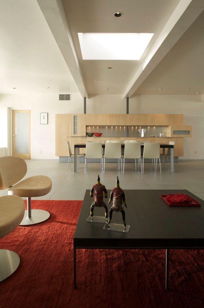 Living Room Designs Red Carpet apartment, black table red carpet living room skylights peach