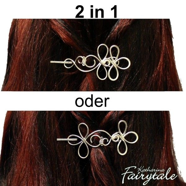 """Haarspange """"Aurelia"""" 2in1 versilbert - Haarschmuck von Katharina Fairytale auf DaWanda.com"""