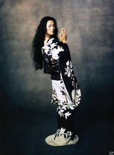 The stunning Gong Li posing as Hatsumomo for Vogue in the movie, Memoirs of a Geisha.