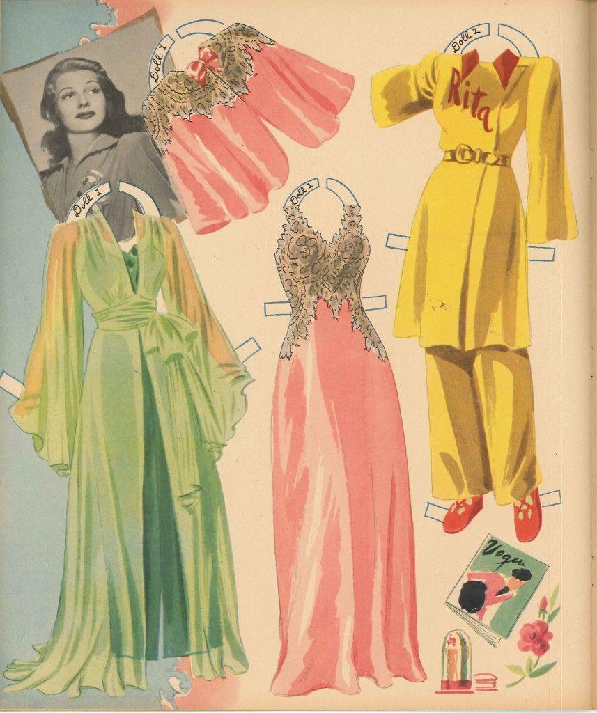 Rita Haywood paper dolls, 1942.