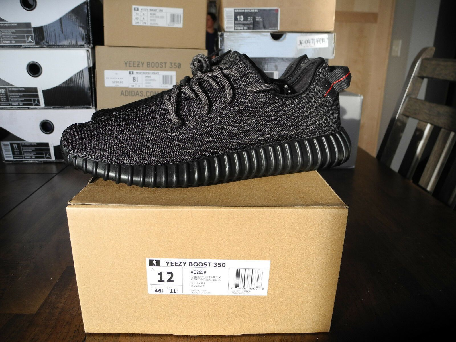 2a21014f8 Details about Adidas yeezy boost 350 Pirate Black size 10.5 DS AQ2659 100%  authentic