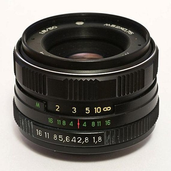 Helios 77M-4 50mm F1 8 Russian Vintage Lens for Sony Alpha (A-mount